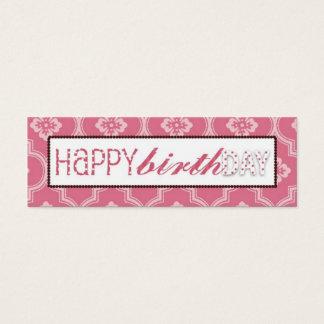 Sweet Cake Skinny Gift Tag Mini Business Card