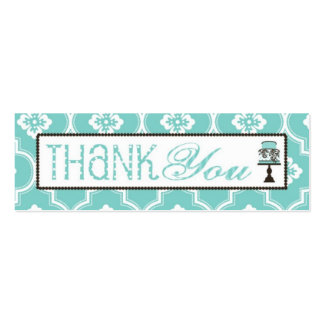Sweet Cake Skinny TY Gift Tag Turq Business Card Templates