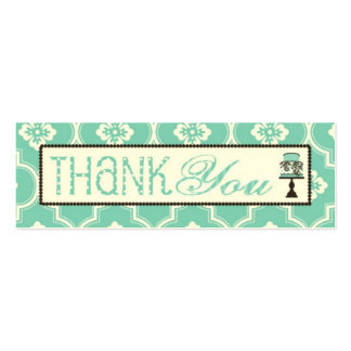 Sweet Cake Skinny TY Gift Tag Turq CR Business Card Template