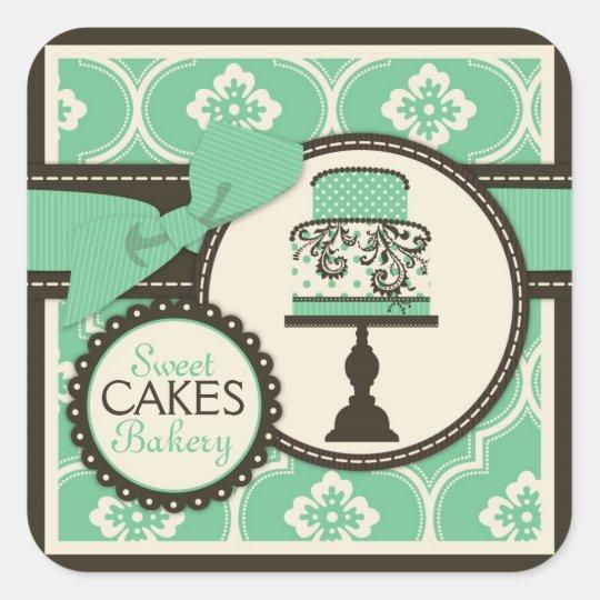 Sweet Cake Sticker Business Sticker Teal