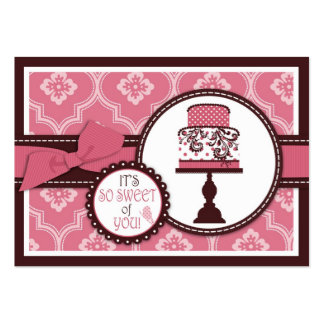 Sweet Cake TY Gift Tag Large Business Cards (Pack Of 100)