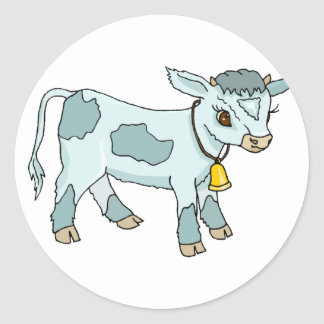Sweet Calf Classic Round Sticker
