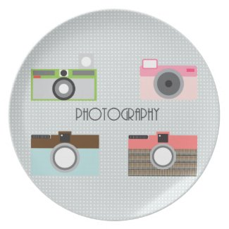 Sweet Camera Plate plate