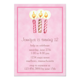 Sweet Candles Birthday Party Invitation