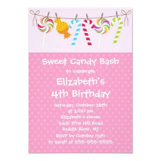 Sweet Candy Bash Birthday Party Invitation