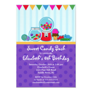 Sweet Candy Bash Girl Birthday Party Invitation