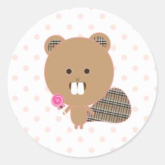 Sweet Candy Beaver Sticker
