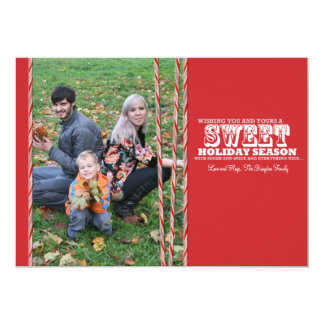 Sweet Candy Cane Christmas Photo Card 5x7
