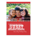Sweet Candy Cane Christmas Photo Card 5x7 Personalized Invite