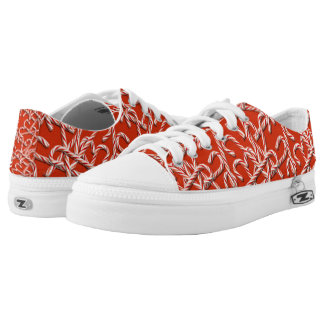 Sweet Candy Cane Printed Shoes