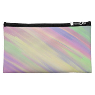 Sweet Candy Colored Swirl Painting Cosmetic Bag