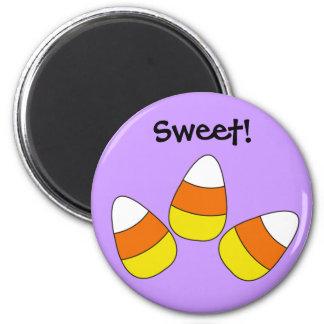 Sweet Candy Corn Halloween Magnet