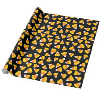 Sweet Candy Corn Halloween Wrapping Paper