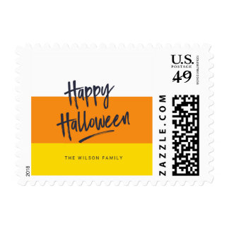 Sweet Candy Corn Happy Halloween Postage