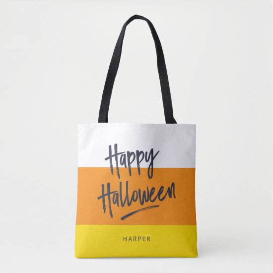 Sweet Candy Corn Happy Halloween Tote Bag