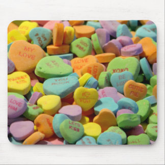 Sweet Candy Hearts Mouse Pad
