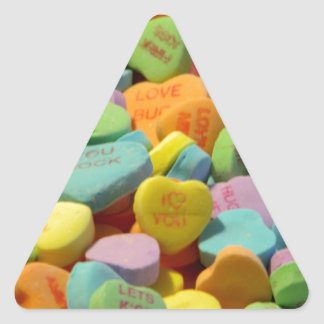Sweet Candy Hearts Triangle Sticker