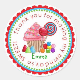 Sweet Candy Land Cupcake Lollipop Stickers