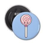 Sweet Candy Lollipop Button Bottle Opener