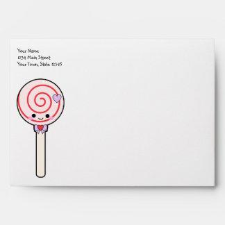 Sweet Candy Lollipop Envelope