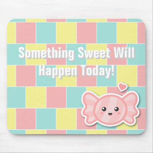 Sweet Candy on colourful pastel background Mouse Pad