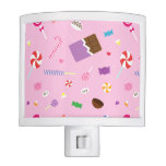 Sweet Candy Pink Pattern For Girls Room Night Lites