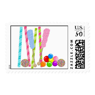 Sweet Candy Postage Stamps