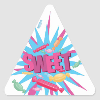 Sweet Candy Triangle Stickers