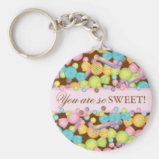 Sweet Candy Store Collection Personalized Keychain