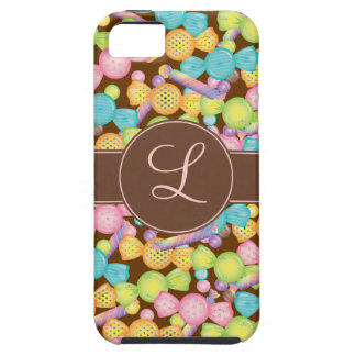 Sweet Candy Store on Chocolate Monogram Case iPhone 5 Cover