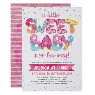 Sweet Candyland Sprinkles Baby Shower Invitation