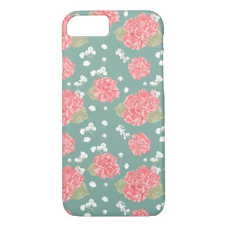 Sweet Carnation Flower Seamless Pattern iPhone 8/7 Case