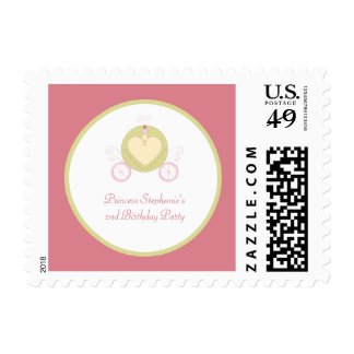 Sweet carriage princess party birthday stamps