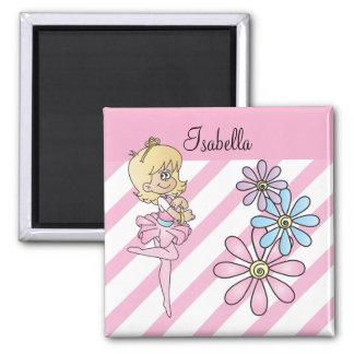 Sweet Cartoon Ballerina Girl Magnet