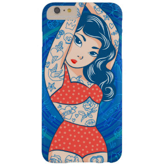 sweet cartoon bikini tatoo girl red barely there iPhone 6 plus case