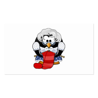 Sweet Cartoon Grandma Penguin Double-Sided Standard Business Cards (Pack Of 100)