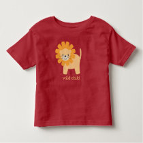 Sweet Cartoon Lion Toddler T-shirt