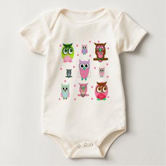 Sweet Cartoon Owls Bodysuits