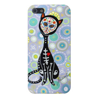 SWEET CAT EL GATO DAY OF THE DEAD iPhone 5 CASE