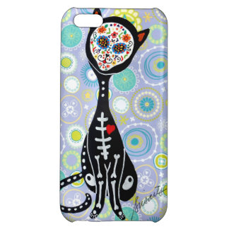SWEET CAT EL GATO DAY OF THE DEAD iPhone 5C CASES