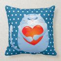 Sweet cat in love, pillow throwpillow