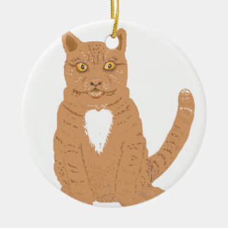 Sweet Cat on almost everythiing imaginable. Ceramic Ornament