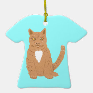 Sweet Cat on almost everythiing imaginable. Christmas Tree Ornament
