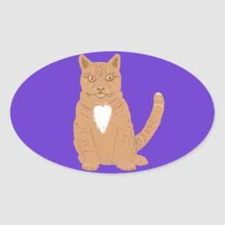 Sweet Cat on almost everythiing imaginable. Oval Stickers