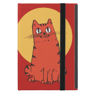 sweet cat sitting funny cartoon iPad mini case