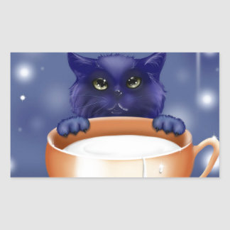 Sweet Cat Rectangular Stickers