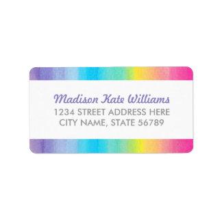 Sweet Celebration Watercolor Rainbow Address Label