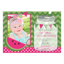 Sweet celebration Watermelon Birthday Invitation Card