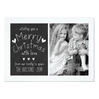 SWEET CHALKBOARD | HOLIDAY PHOTO GREETING CARD