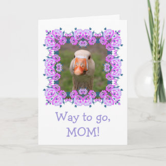 Sweet Charming Goose Mother's Day Card